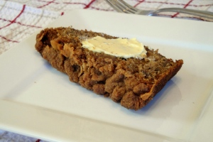 whole wheat coconut banana bread slice